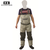 2017 New Fly Fishing Stocking Foot Wader Affordable Breathable Waterproo Chest Wader