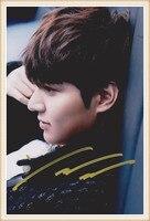 لي مينهو وقعت توقيع مع صورة 4*6 inches الشهير جديد الكورية freeshipping 03.2016 03