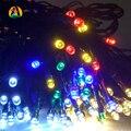 Solar 12 M 100 LED Luces de Cadena de Decoración Para El Árbol De Navidad Fiesta de Jardín Al Aire Libre Patio Jardín Al Aire Libre Linterna