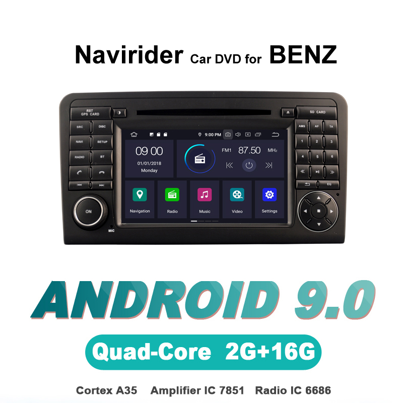 ELANMEY advanced gps navigation For BENZ ML320 <font><b>ML</b></font> <font><b>350</b></font> GL X164 <font><b>W164</b></font> GL320 android 9.0 CAR DVD multimedia radio stereo bluetooth image