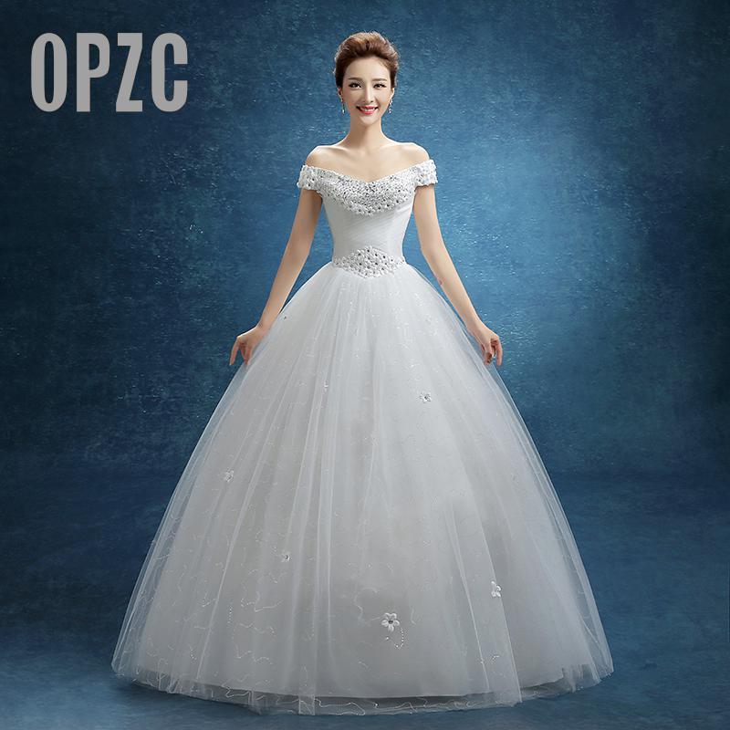Wedding Dress 2017 New Spring And Summer Korean Style Wedding Gowns with Flower Sequin vestido de