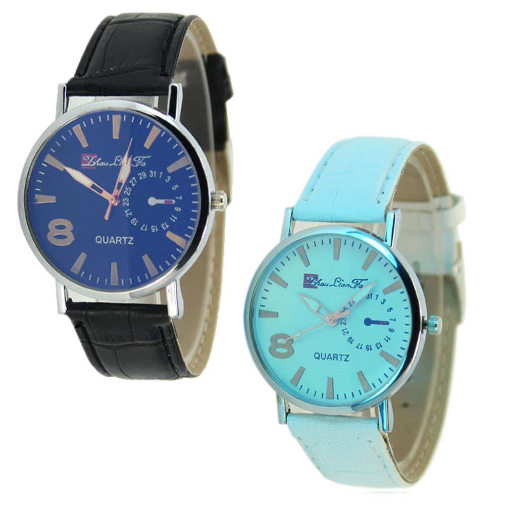 <font><b>Blu-Ray</b></font> Business Faux Leather Women Watches 2015 Hot Relojes Mujer <font><b>Ladies</b></font> Quartz Analog Clock Wrist Hour