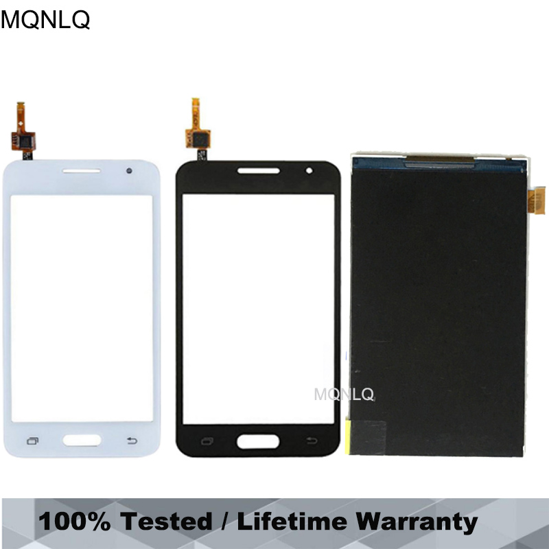 For Samsung Galaxy Core 2 G355 LCD Touch Screen SM-<font><b>G355H</b></font> <font><b>G355H</b></font> Duos Digitizer Sensor Glass <font><b>Display</b></font> Touch Panel White Black MQNLQ image