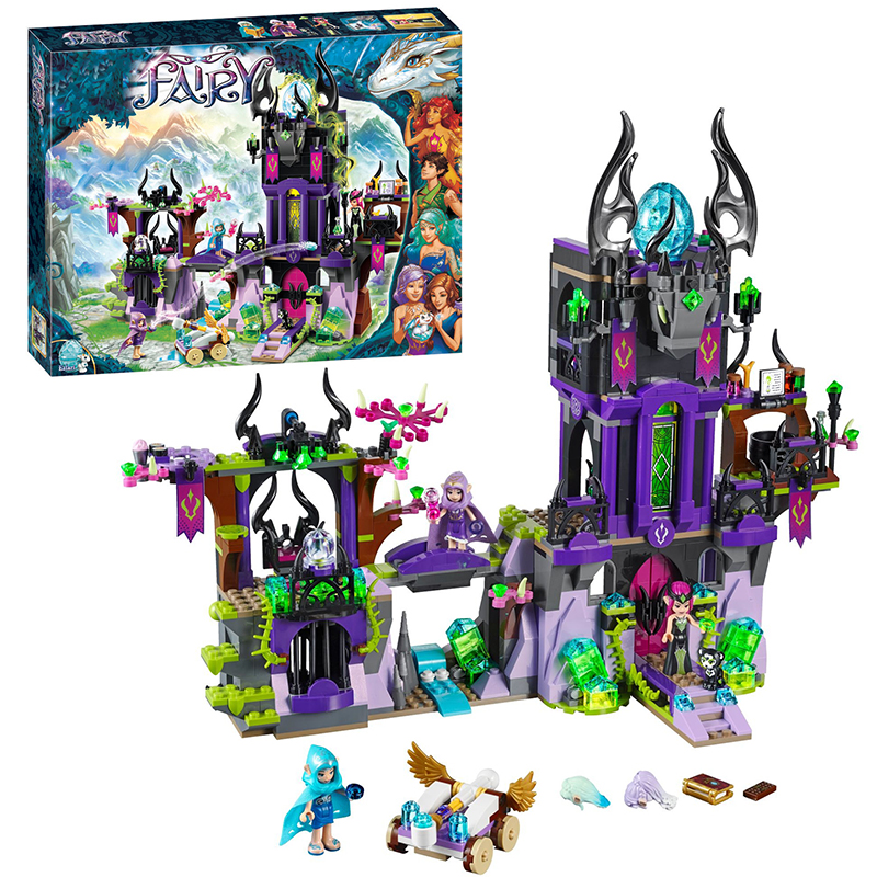 10551 Elves Ragana's Magic Shadow Castle building Blocks Bricks Toys for children Toys Compatible with lego gift kid set girls lepin city creator 3 in 1 beachside vacation building blocks bricks kids model toys for children compatible with lego gift kid