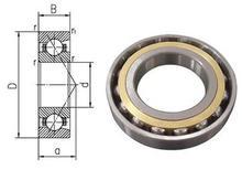 75mm de diamètre Angulaire roulements à billes à contact 7215 AC/P5 75mm X 130mm X 25mm, angle de Contact 25, ABEC-5 Machine outil