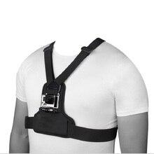 Elastische Körper Harness Strap Brust Outdoor Berg Strap Für SJCAM XiaoYi Kamera Halterung für Gopro Hero 7/6/ 5/4/3/3 +/2/1