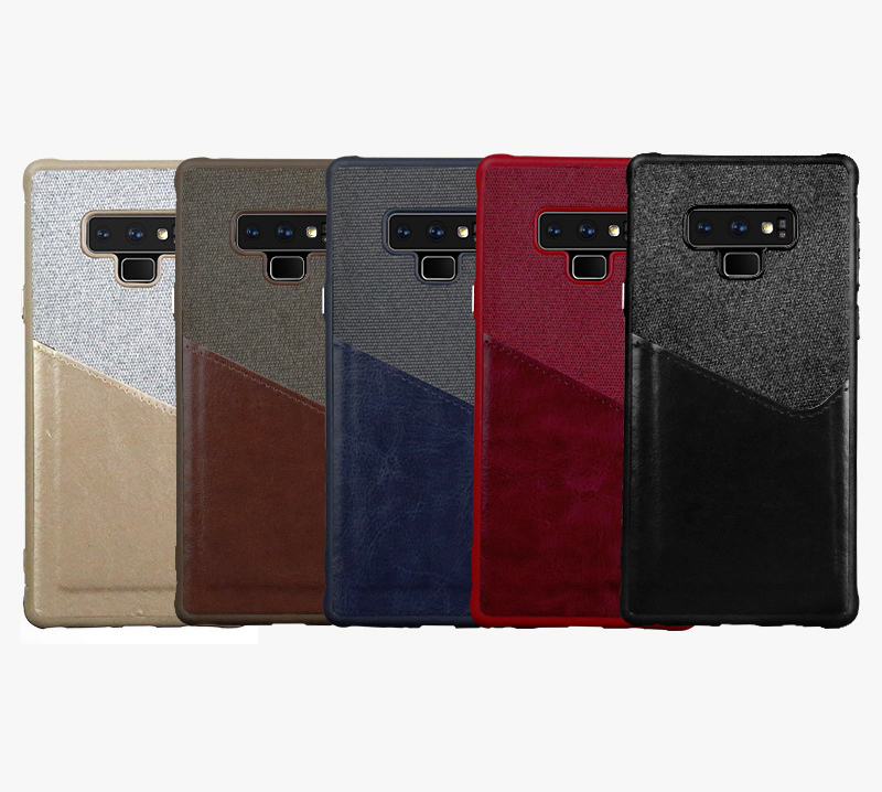 Luxury Business Cloth+leather Wallet Case for samsung note 9 8 with Card Pocket Cover for samsung galaxy S8 S9 Plus case Coque   (7)