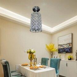 Nowoczesny przemysłowy kryształ E27 LED 220V żelaza lśniący żyrandol do salonu sypialnia jadalnia study hotel restauracja hall