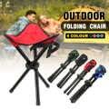 Açık taşınabilir hafif Kamp Yürüyüş Balıkçılık Katlama Piknik Bahçe BARBEKÜ Tabure Sehpa Üç ayak Sandalye Koltuk 4 renk seçeneği