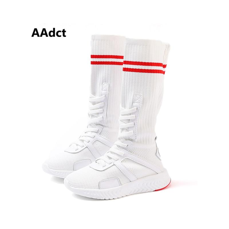 91d87e94c27234 ... sneakers autumn fashion for running Brand children cut AAdct kids shoes  knitting girls 2018 High sports ...