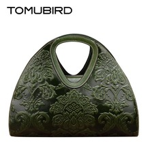 TOMUBIRD 2017 new high quality cowhide materials retro embossed well-known model ladies bag luxurious real leather-based purse shoulder bag