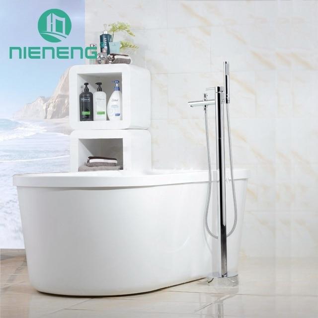 Nieneng Freistehende Badewanne Bodenmontage Bad Wasserhahn Royal