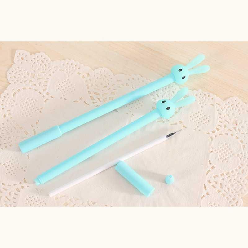 Kawaii Pen Long Ears Rabbit Pen for Girl Student Gift Cute Cartoon Plastic Gel Pen Creative Office Supplies Stationery Supplies