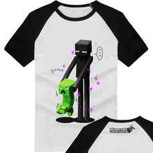Fashion T Shirts Kid Minecraft Tops Swag Design Short Sleeve Clothing Boys Girls Shirts 2-13 Years Old O Neck Children Clothes