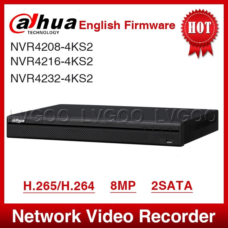 EXPRESS Shipping Dahua NVR4208 4KS2 8 Channel 1U 4K H 265 Lite Network Video Recorder Full