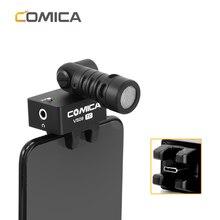COMICA CVM VS09 TC USB C 연결 카디오이드 180 회전 스마트 폰 마이크 전화 TYPE C 인터페이스