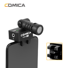 COMICA CVM VS09 TC USB C חיבור Cardioid 180 תואר סיבוב Smartphone מיקרופון עבור טלפון עם TYPE C ממשק