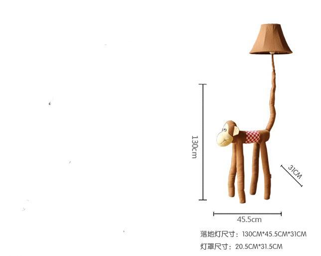 новый коттедж ткань обезьяна Сид E27 ребенок тер мультфильм никто sympathy обезьянки животных свет для малыша rods подарок 1048