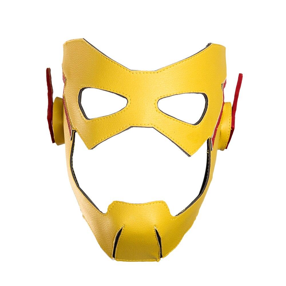 Super héros Flash Costume avec masque Halloween enfant Flash Cosplay Costume pour hommes ensemble complet avec des bottes - 3