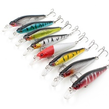 1Pcs Minnow Fishing Lures Crankbait topwater lure Fishing Wobblers Gold-plated Plastic Laser Reflective Winter fishing faux lure