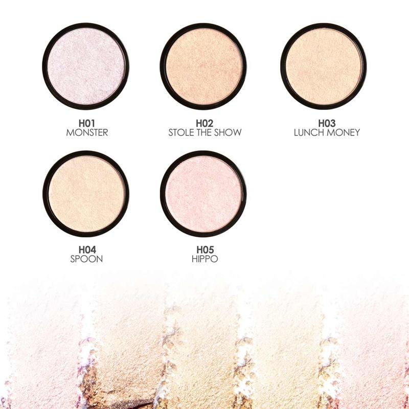 FOCALLURE Highlighter Bronzer Wajah Makeup Eyeshadow Palette - Riasan - Foto 3
