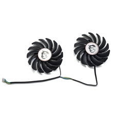 Вентилятор кулера 85 мм PLD09210B12HH GTX 1050 Ti 4PIN для видеокарт MSI GeForce GTX 1050 Ti GAMING 4G RX470 8G