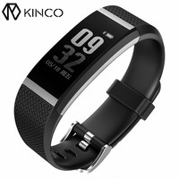 KINCO Waterproof Bluetooth Data Sync Sports Track Bracelet Sleep Heart Rate Monitor Call SMS Reminder Smart Wristband for Phone