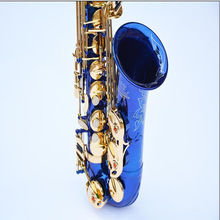 Professional [Victoria] E flat alto saxophone classic blue and silver to build new music promotional shipping