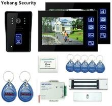 Yobang Security freeship 7″ Monitor Video Intercom Home Door Phone Supported Waterproof Rain Cover DoornRelease Unlock Doorbell