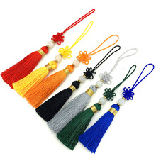 12pcs/lot 5.5cm Chinese knot tassel with beads silk sewing trim decorative key tassels for DIY curtains home decoration