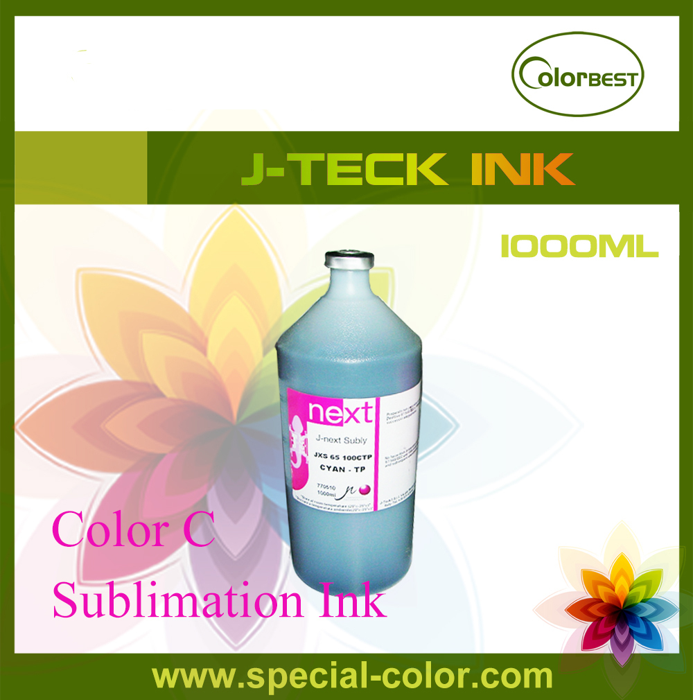 J-next Subly JXS-65 Dye Sublimation Ink Fabric Ink 1000ml Color Cyan for Roland/Mimaki/Mutoh/Epson 6colors set for dx4 dx5 sublimation ink 1000ml for roland mimaki mutoh china printer alpha infinite wit color