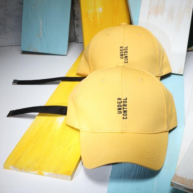 928db75c7fe Summer Letter Embroidery Yellow Baseball Caps For Men Teenager Baseball Hat  With Long Belt Women Summer Hats Gorras Feminios