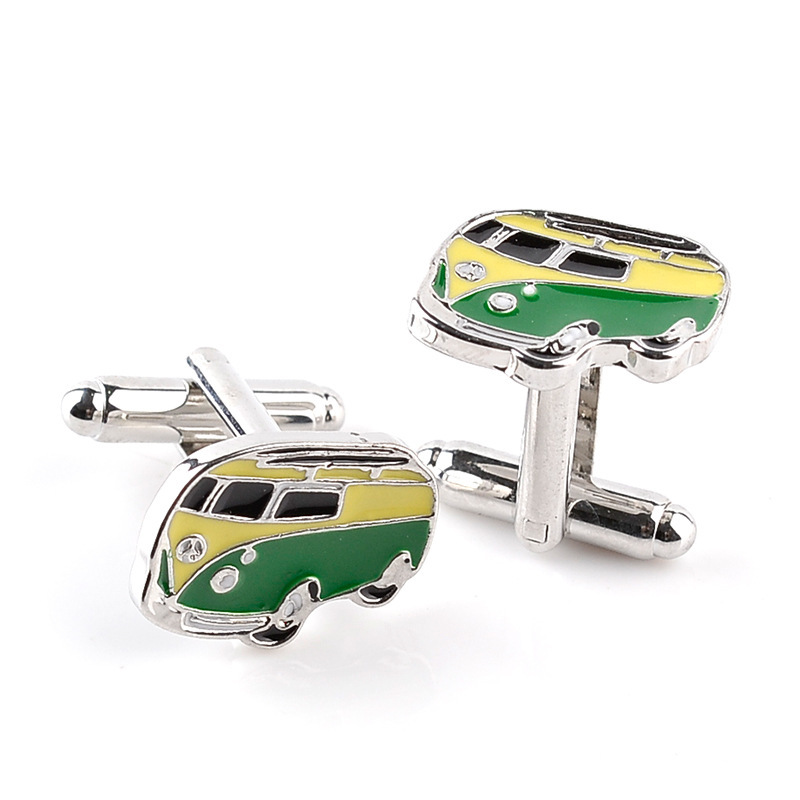 New Designs Vintage Bus Car gear Star poker Cufflinks For Men Women shirt cuff button jewelry Gift