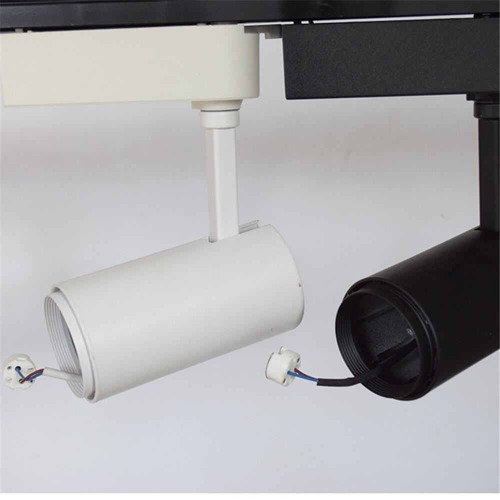 Us 15 0 Led Track Light Lighting 12v Mr16 Base No Lamp Clothing Windows Showroom Exhibition Spotlight Ceiling Rail Spot In