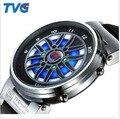 Новые Большие Колеса Vogue TVG Марка Высокое Качество Марок мужская Цифровые Спорт LED Watch Мужчины Бизнес Часы, Мода подарок