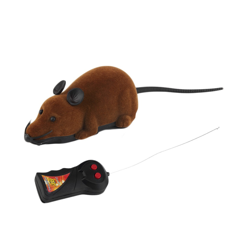 2017 Hot Sale Scary Remote Control Simulation Plush Mouse Mice Kids Toys Gift for Cat Dog 3 Colors ...