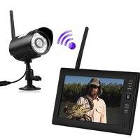 7 ЖК дисплей Беспроводной Видеоняни и радионяни 4 канальный Quad безопасности DVR с 1 камеры дома Системы Скрытого видеонаблюдения Запись карты