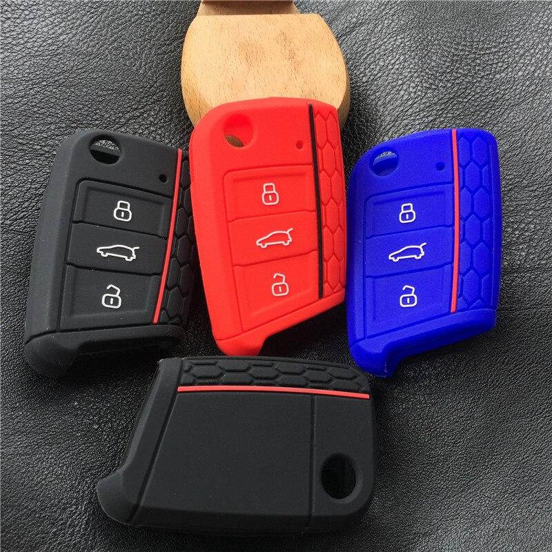 Coque de protection pour clé de voiture en silicone pour VW polo golf 7 MK7 pour Skoda Octavia combi A7 pour SEAT Leon Ibiza CUPTRA