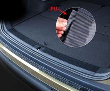 1pc PU for SKODA KODIAQ Trunk Protective Carbon fiber pattern decorate