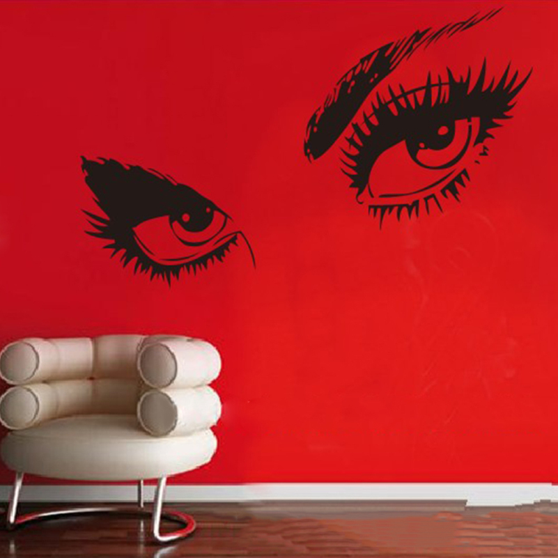 Sexy Eyes Wall Stickers Home Decor Living Room DIY Modern PVC Eye Art  Pattern Wall Decal Home Decoration Vinyl Sticker Bedroom  In Wall Stickers  From Home ...