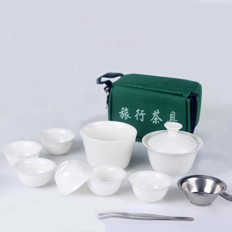 Keramische Kung Fu-theeset, 8-delige Celadon-handschoen - Keuken, eetkamer en bar