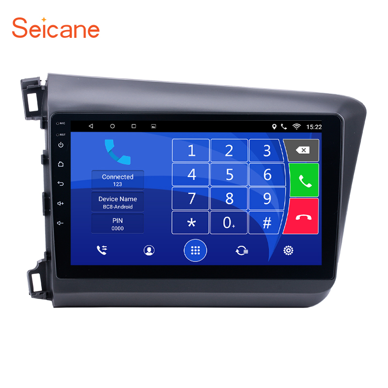 Seicane 2Din 10.1 inch Android 6.0 Car Radio Wifi Tochscreen Multimedia Audio Stereo Player GPS Head Unit For Honda Civic 2012