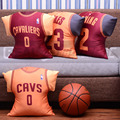Automobile 45CM Large Size Basketball Jersey Bolste The Best Gift for Fans of LeBron James Kyrie Irving Kevin Love