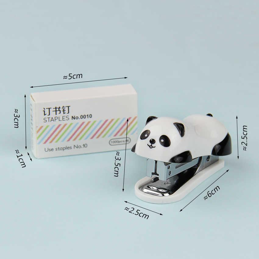 1 Set Kawaii Mini Briefpapier Nietmachine Set Kantoor Accessoires Boek Papier Binding Student Leren Levert