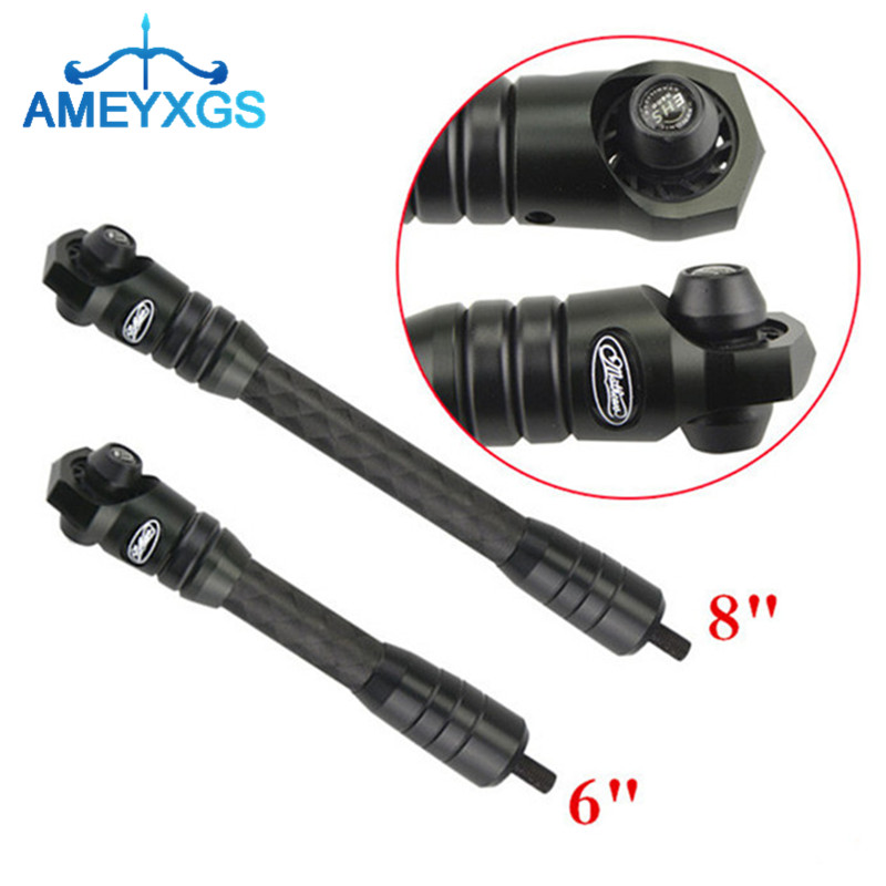 1Pc 6 8 Archery Compound Bow Stabilizer Shock Absorber Dampener Carbon Fiber Stabilizer Reduce Noise For