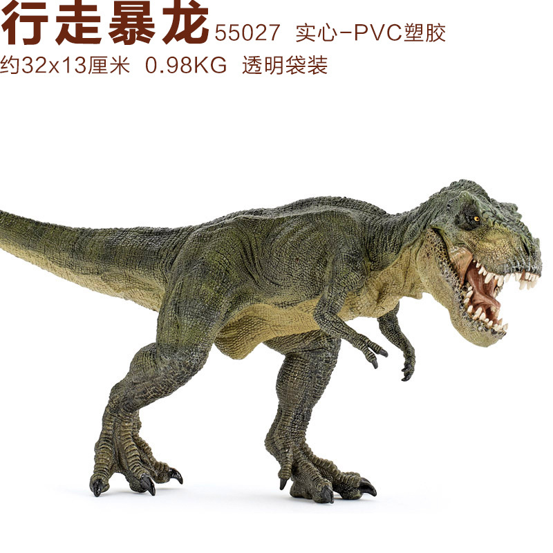Papo Green Running T-Rex Dinosaur Model Museum Collection Jurassic World Ancient Creatures Children's Toys wiben jurassic tyrannosaurus rex t rex dinosaur toys action