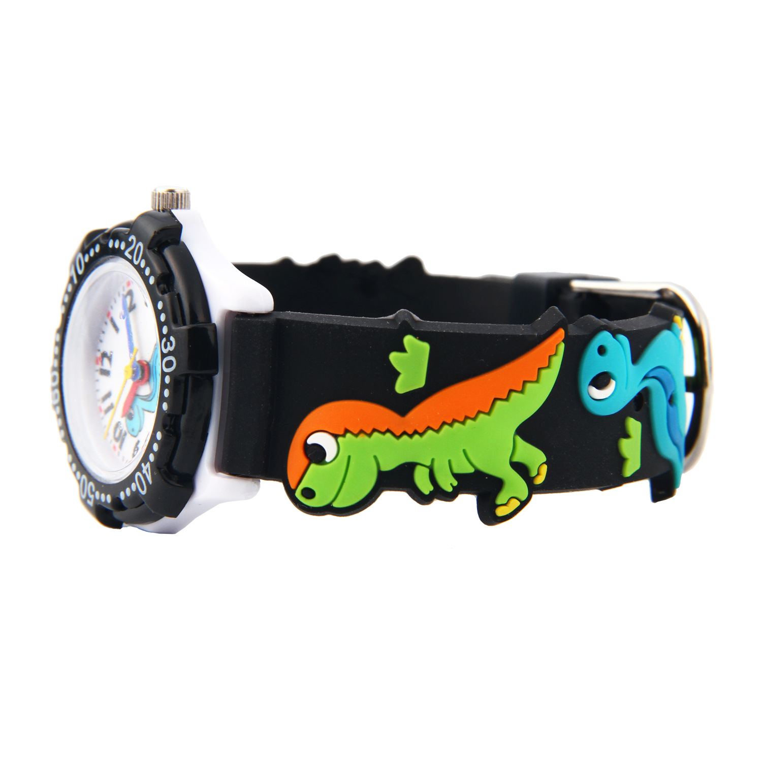 Wholesale 100pcs Lot Colorful Children Quartz Watch Dragon 3D Pattern Wonderful Gift For Boy Or Girl