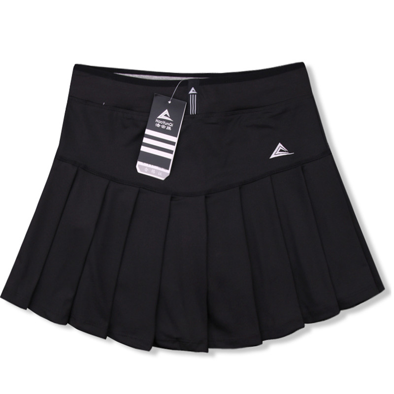 New Women Skort Quick Dry Sport Badminton Pantskirt Wear Skirt Pleated Pants Pocket Tennis Skirt pleated mesh skirt