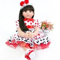 24'' Lifelike big size Angel doll play house toy cloth body Silicone Reborn Dolls Baby Princess on Birthday Gift for Girl pullip