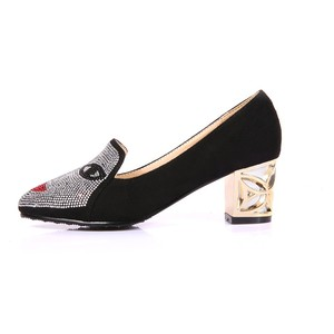 Image 5 - New fashion Big size 33 48 high spike heel pumps with buckle made of high quality pu women pointed toe  shoes 602